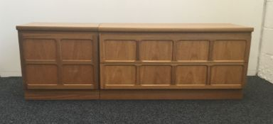 A two piece Nathan sideboard