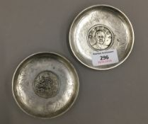 Two Chinese coin dishes
