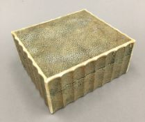 An Art Deco shagreen and ivory box