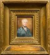 THOMAS OVERTON (active circa 1820-1850) Portrait miniature of Law Esquire of Woodstock House,