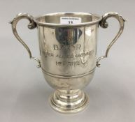 A French silver trophy cup with British Army of The Rhine presentation inscription