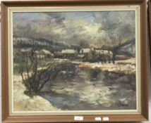 TERRY KIRMAN (1939-1997) British, Landscape, oil on canvas, signed,