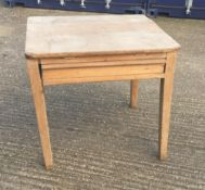 A small Victorian pine preparation table