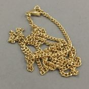 An 18 ct gold chain (8 grammes total weight)