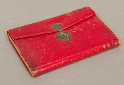 A George III leather bound pocket remembrancer for 1803 Of typical form,