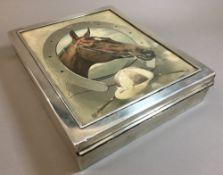 An Edwardian silver cigar box, hallmarked London 1901,