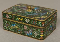 A late 19th/early 20th century Chinese cloisonne box and cover Of rectangular form,