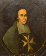 Lot 827 - CONTINENTAL SCHOOL (18th century) Portrait of a Knight Hospitallers of St.