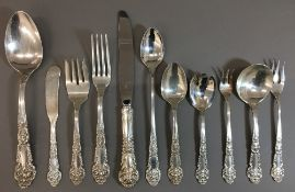 An American Sterling silver one-hundred and fifteen piece service,