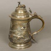 A George II silver tankard, hallmarked London 1747,