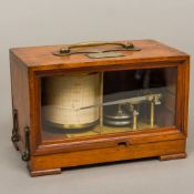 A 19th century French mahogany cased altigraph by Richard Freres, circa 1884 Of small proportions,