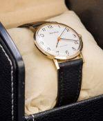A 9 ct gold cased Bulova Longchamp gentleman's wristwatch,