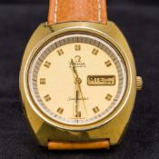 A gentleman's Omega Seamaster automatic wristwatch With day/date dial,