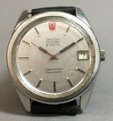 An Omega gent's electric F300 Seamaster chronometer calendar wristwatch, reference 198.