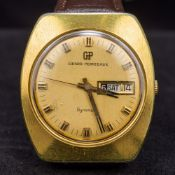 A Girard-Perregaux Gyromatic wristwatch With day/date dial, the movement numbered 480-329. 3.