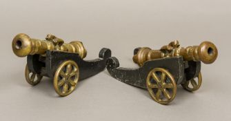 A pair of 17th century style bronze tabl