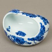 A Japanese blue and white porcelain bask