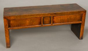 An 18th century Chinese hardwood low table Of small proportions,