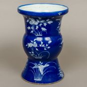A 19th century Chinese blue and white Gu