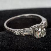 A 22 ct white gold diamond ring