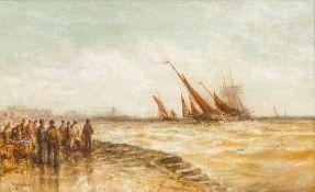 WILLIAM WEBB (1780-1846) British Return of the Fleet, Douglas, Isle of Man Oil on canvas, signed,