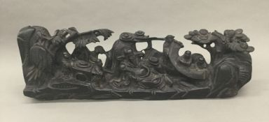 A Chinese hardwood carving