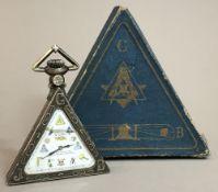 A Swiss 800 silver cased Masonic pocket