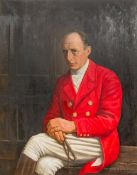 Attributed to FRASER (20th century), Portrait of John Johnstone, in Hunting Attire, oil on canvas,