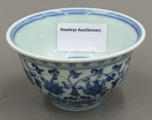 A Chinese porcelain blue and white bowl