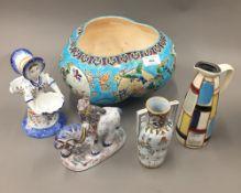 A quantity of Continental ceramics