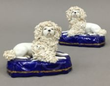 A pair of Chelsea style poodles