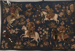 A tapestry wall hanging