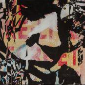COPYRIGHT (20th/21st century) British (AR), Portrait, embellished stencil print on board,