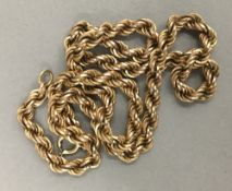 A 9 ct gold necklace (13.