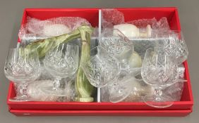 A set of six cut crystal Brandy glasses,