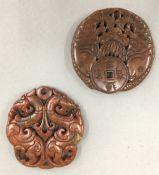 Two agate discs