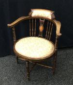 A Victorian tub armchair