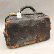 A vintage Gladstone bag