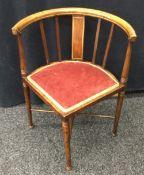 A Victorian corner chair