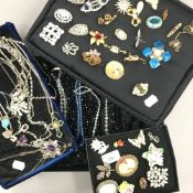 Four trays of various jewellery