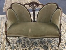 A Victorian mahogany framed parlour settee