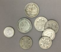 A bag of silver coins