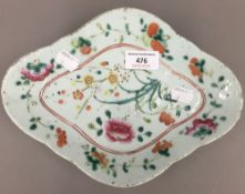 A 19th century Chinese porcelain dish