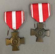 Two French Croix De Valeur medals,