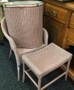 A Lloyd Loom chair,