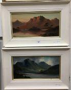 JOHN HENRY BOEL (1853-1922) British, Loch Scenes, a pair, oils on canvas,