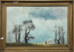 KEITH (20th century) The Plough Team, oil on canvas, signed,