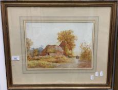JAMES MATTHEWS (19th/20th century), At Great Wymondley, Hertfordshire, watercolour,