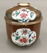 An 18th century Chinese famille rose deep bowl and cover,
