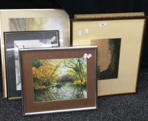 A quantity of various pictures, watercolours, etc.